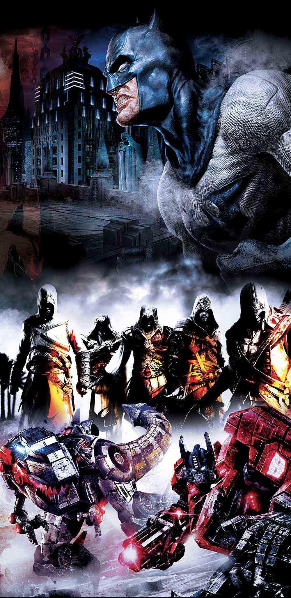 Slider levelgry batman assasin creed transformers